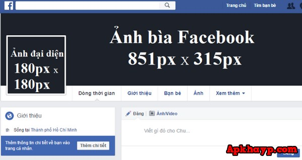 kích thước ảnh bìa facebook