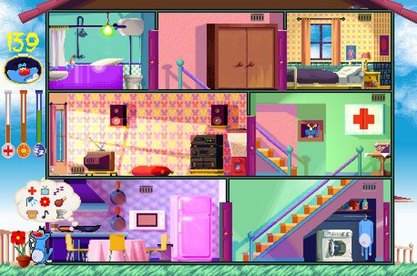 game ngôi nhà của Oggy