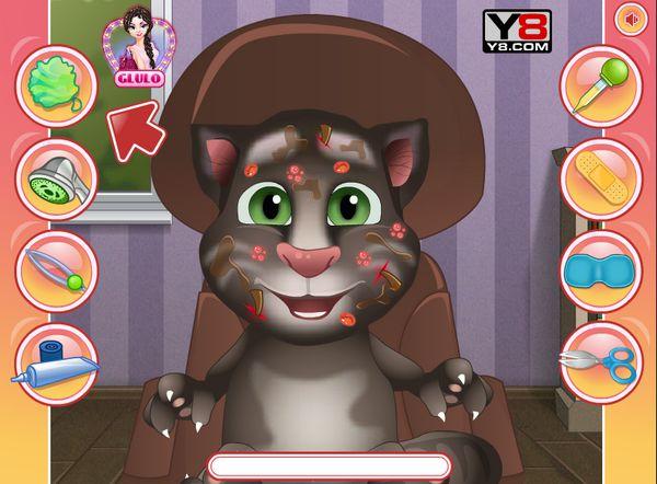 Game Chăm sóc bé mèo Tom