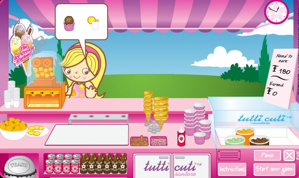 Game Cửa hàng kem Tutti Cuti
