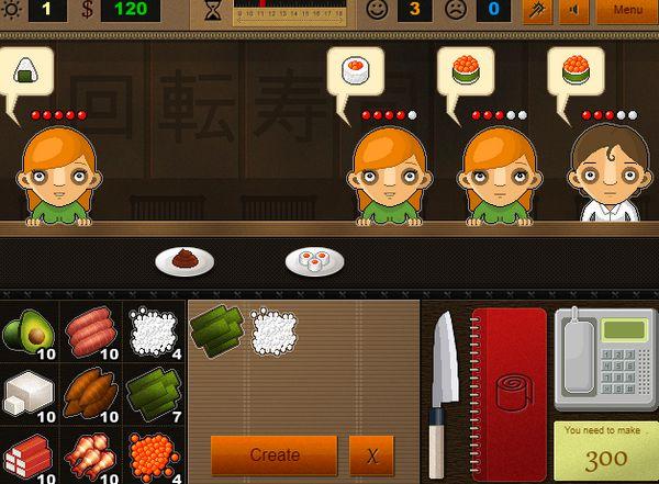 Game Cửa hàng Sushi nhật bản