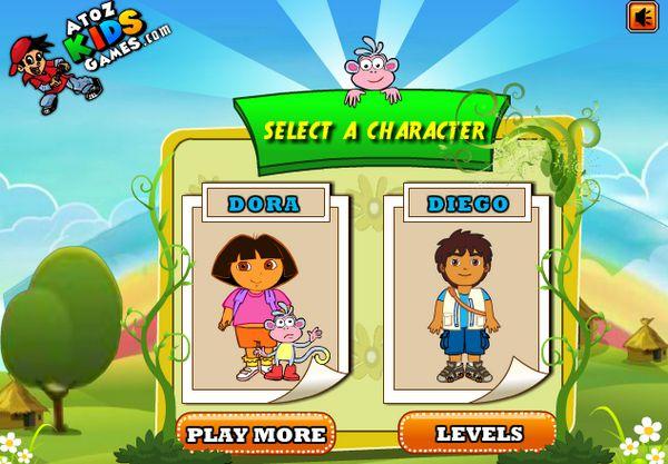 Game Dora và Diego đua xe
