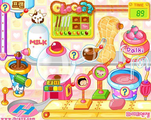 Game Nhà máy làm kẹo Socola