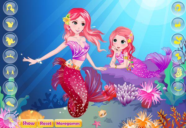 Game thời trang 2 nàng tiên cá