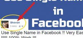 Hướng dẫn cách đổi tên Facebook 1 chữ hay nhất năm 2020