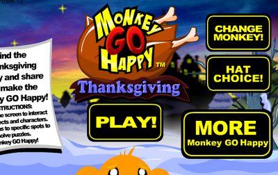 Game chú khỉ buồn lễ tạ ơn: Trò chơi chú khỉ buồn