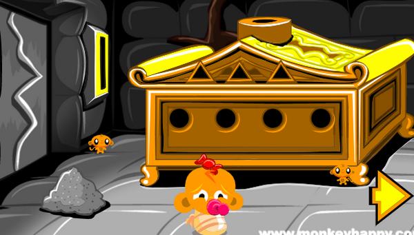 Game chú khỉ buồn ngôi đền cổ: Trò chơi chú khỉ buồn