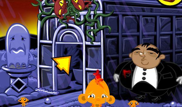 Game chú khỉ buồn ngôi nhà ma quái: Trò chơi chú khỉ buồn