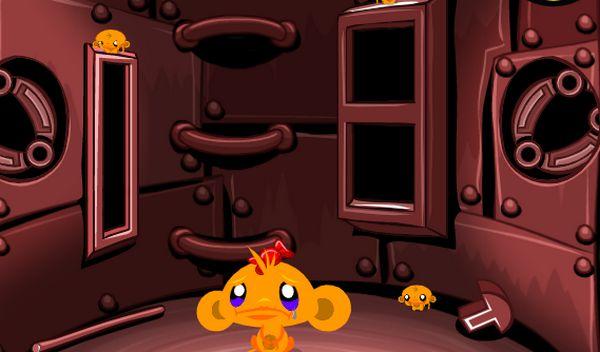 Game chú khỉ buồn trên phi thuyền: Trò chơi chú khỉ buồn