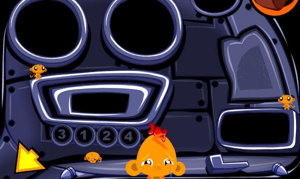 Game chú khỉ buồn trên tàu vũ trụ: Trò chơi chú khỉ buồn