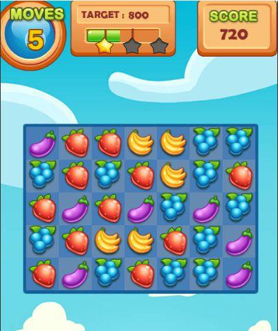game xếp hình trái cây