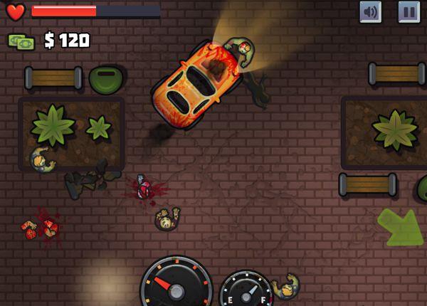 đua xe bắn Zombie 2