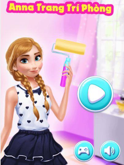 Game Anna trang trí phòng: Trò chơi Anna trang trí phòng
