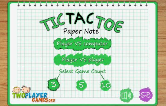 Game đánh cờ ca rô Y8: Tic Tac Toe Paper Note