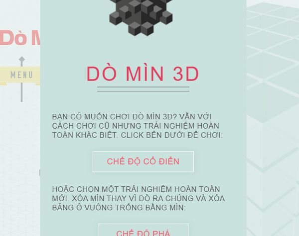 Game dò mìn 3D: Mine3D