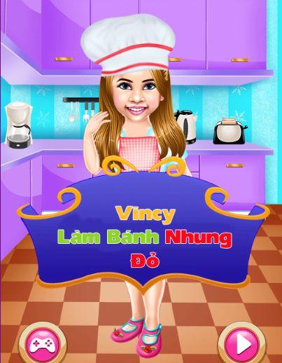 Game Vincy làm bánh nhung đỏ: Vincy Cooking Red Velvet Cake