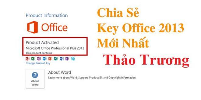 Những key office 2013 miễn phí dùng Active mới nhất 2020