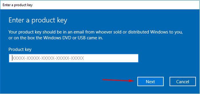 Cách dùng Key Active Win 10