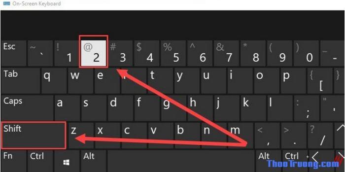 Cách gõ a Còng @ trên bàn phím máy tính