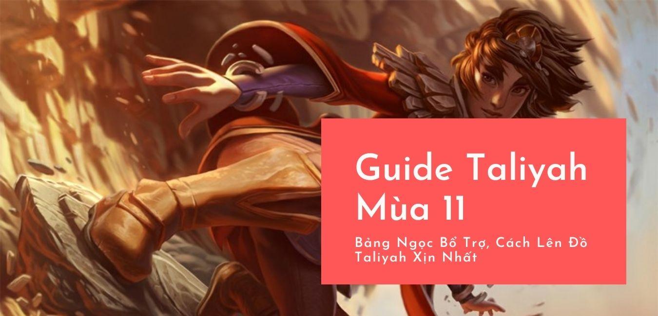 hướng dẫn cách chơi tướng taliyah