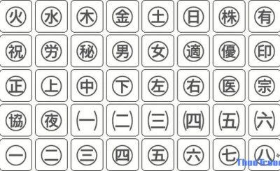 kí tự đặc biệt tiếng Trung Quốc