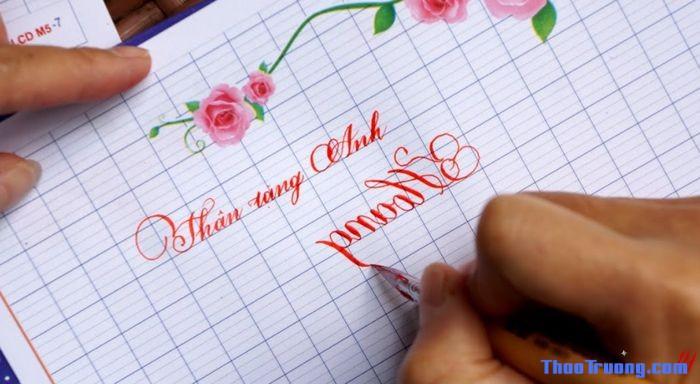 viết chữ ngược