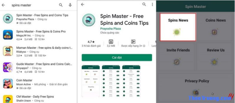 nhận spin coin master