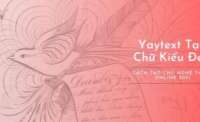 yaytext tạo chữ kiểu nghệ thuật