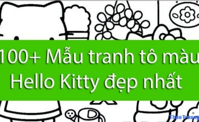 tranh tô màu Hello Kitty